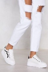 NASTY GAL My Heart and Sole Platform Sneakers White – chunky trainers