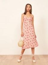 Reformation Nectar Dress in Mia | strappy summer midi