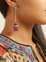 JADE JAGGER Neverending Lozenger 18kt gold & diamond earrings ~ luxe jewellery