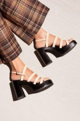Jeffrey Campbell New Age Platform / strappy chunky heeled sandals