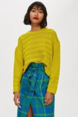 TOPSHOP Ottoman Cropped Jumper | lime-green sweaters