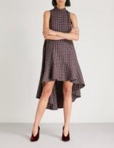 PAPER LONDON Momo wool-blend dress – check prints