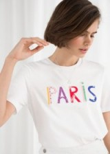 & other stories Paris Patch Letter Tee White / slogan tee