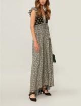 PHILOSOPHY DI LORENZO SERAFINI Metallic floral-print crepe maxi dress – boho style