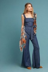 Pilcro Waist-Tied Denim Jumpsuit ~ 70s casual style