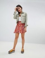 Pimkie Floral Print Skirt in Red | summer mini