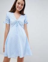 Pimkie Polka Dot Tea Dress in blue | summer vintage style