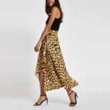 River Island Pink leopard print tie waist asymmetric skirt | animal prints