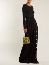 BALMAIN Black Pleated maxi skirt ~ chic clothing