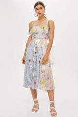 Topshop Pleated Midi Dress | summer pleats