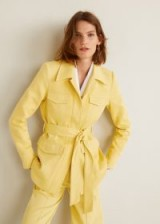 Mango Pocketed corduroy blazer Yellow – safari cord jacket