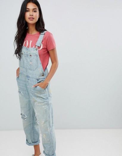 Polo Ralph Lauren Distressed Dungarees – summer denim overalls