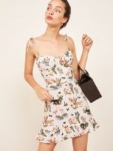 Reformation Porto Dress in Janeiro | strappy summer frill hem mini