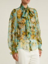 DOLCE & GABBANA Primrose-print silk-chiffon blouse ~ beautiful Italian clothing