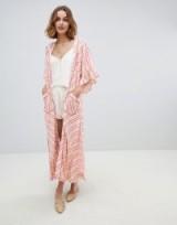 Rahi Cali Cabana Stripe Kimono | ruffle sleeved kimonos
