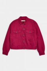 Topshop Raspberry Denim Jacket | oversized jackets
