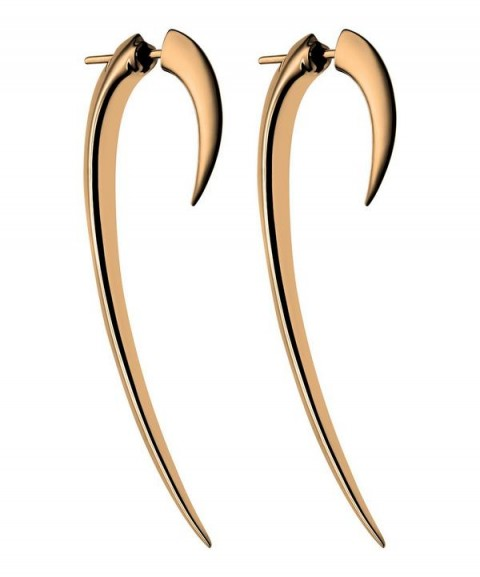 SHAUN LEANE Rose Gold Vermeil Hook Earrings   modern jewellery