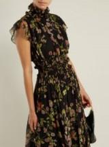 GIAMBATTISTA VALLI Ruffled floral-print silk-chiffon dress ~ feminine ruffles ~ romantic style clothing