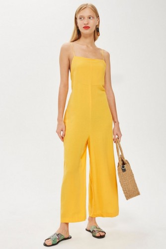 Topshop '90s Yellow Slouch Jumpsuit – summer style fashion