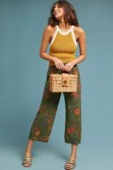 ett:twa Schuyler Printed Trousers in Green | cropped summer pants