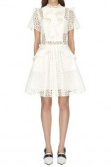 Self Portrait Broderie Anglaise Frilled Mini Dress