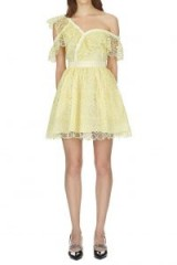 Self Portrait Circle Floral Lace Frill Mini Dress