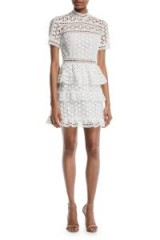 $220.00 Self Portrait High Neck Star Lace Dress