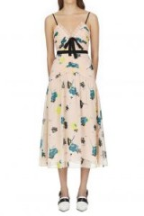 Self Portrait Sleeveless Graphic Floral Print Midi Dress