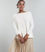 REISS SELINA BATWING JUMPER IVORY ~ chic neutral knitwear