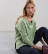 REISS SELINA PALE GREEN BATWING JUMPER