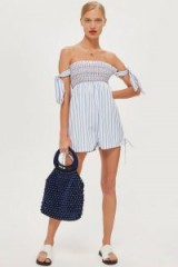 Topshop Shirred Stripe Playsuit – cute summer look – holiday wardrobe
