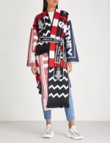 STELLA MCCARTNEY Multi logo-embroidered wool-blend coat – bold mixed prints