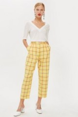 Topshop Summer Check Trousers | yellow checked pants