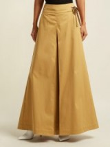 PALMER//HARDING Sundance camel cotton-blend wide-leg trousers ~ stylish summer pants