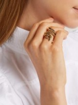 AURÉLIE BIDERMANN Tao gold snake ring ~ antique-effect statement jewellery