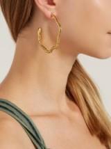AURÉLIE BIDERMANN Tao snake hoop earrings ~ reptile statement jewellery