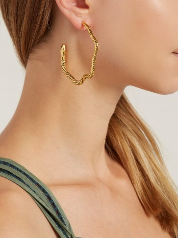 AURÉLIE BIDERMANN Tao snake hoop earrings ~ reptile statement jewellery