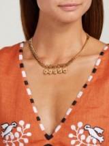 ORIT ELHANATI Tasha gold-plated charm necklace