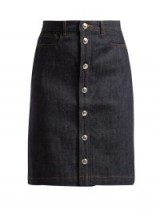 A.P.C. Therese raw-denim skirt ~ casual clothing with effortless style
