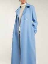 THE ROW Tralty light-blue cashmere coat ~ effortless chic style ~ maxi coats