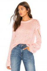 Tularosa MIA SWEATER in Pink | open knit jumpers