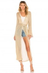 Tularosa WENDY ROBE GOLD. SHEER METALLIC ROBES
