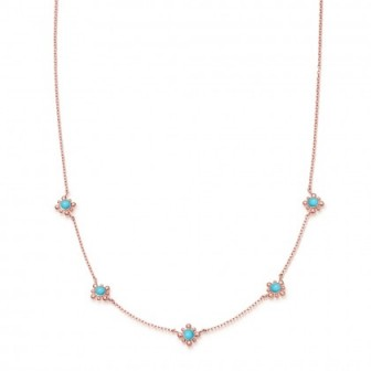 ASTLEY CLARKE Turquoise Mini Floris Necklace | blue stone jewellery | delicate necklaces