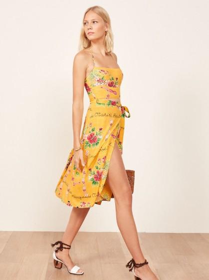 REFORMATION Umbria Dress Bora Bora / tropical floral prints