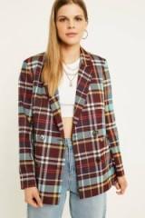 UO Check Blazer Purple multi – plaid jackets