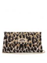 CHRISTIAN LOUBOUTIN Vero Dodat leopard jacquard clutch | luxe evening accessory