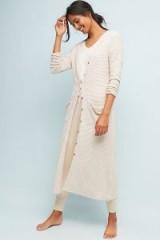 Anama Waffle Longline Cardigan in Neutral | textured knitwear