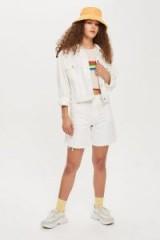Topshop White Denim Jacket and Shorts Set | casual summer style