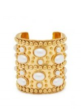 SYLVIA TOLEDANO Wonder Byzance brass and pearl cuff. GOLD TONE CUFFS