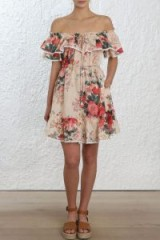 Zimmermann Laelia Frill Tier Short Dress